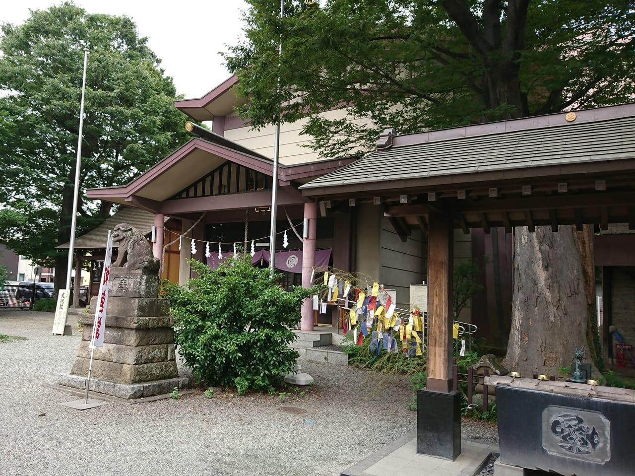 2019年7月短冊をつけた笹がある八坂神社