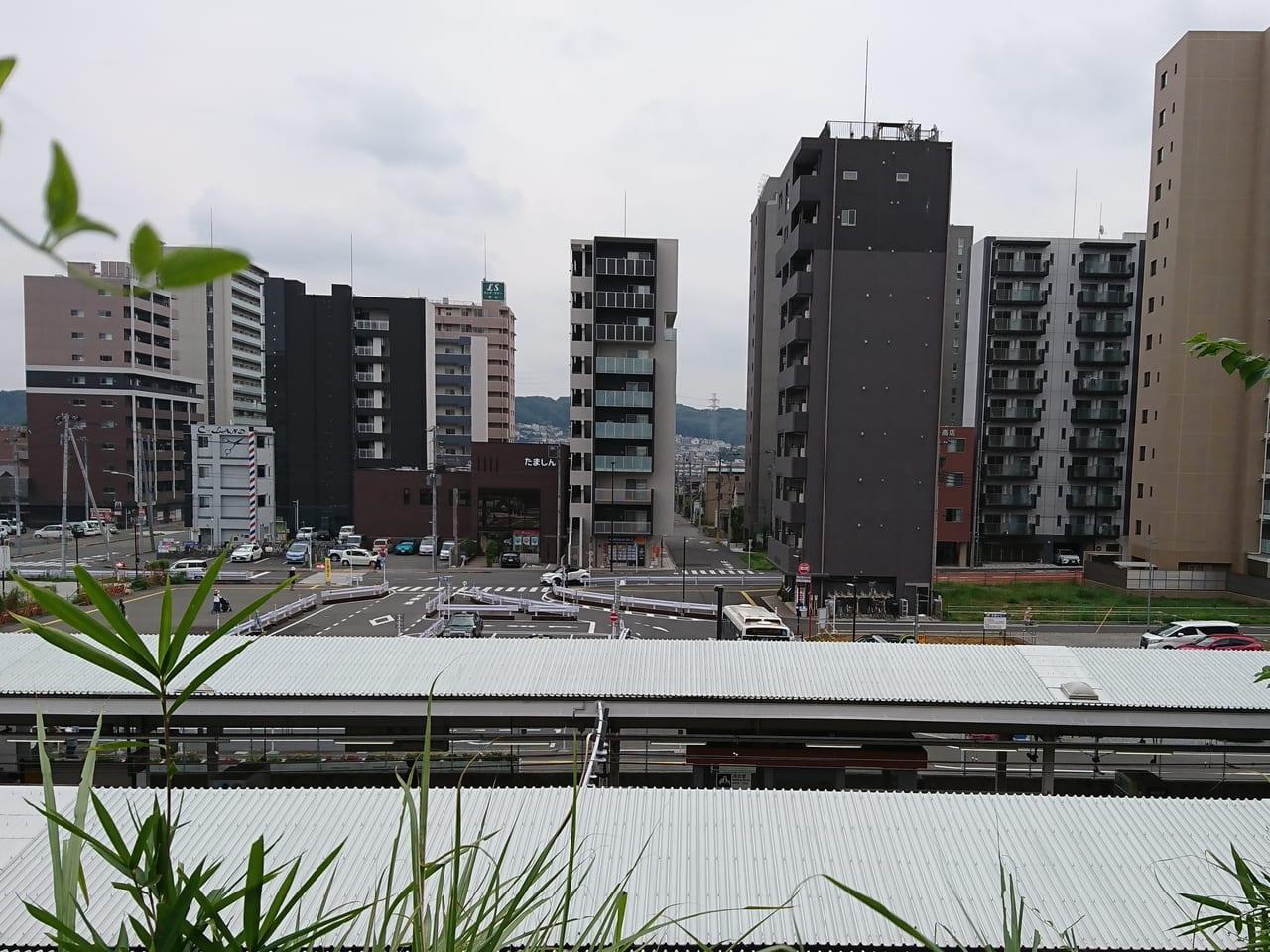 豊田駅南口のロータリー周辺