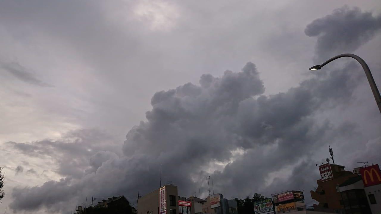 2019年9月8日㈰17時過ぎの日野駅周辺の空模様