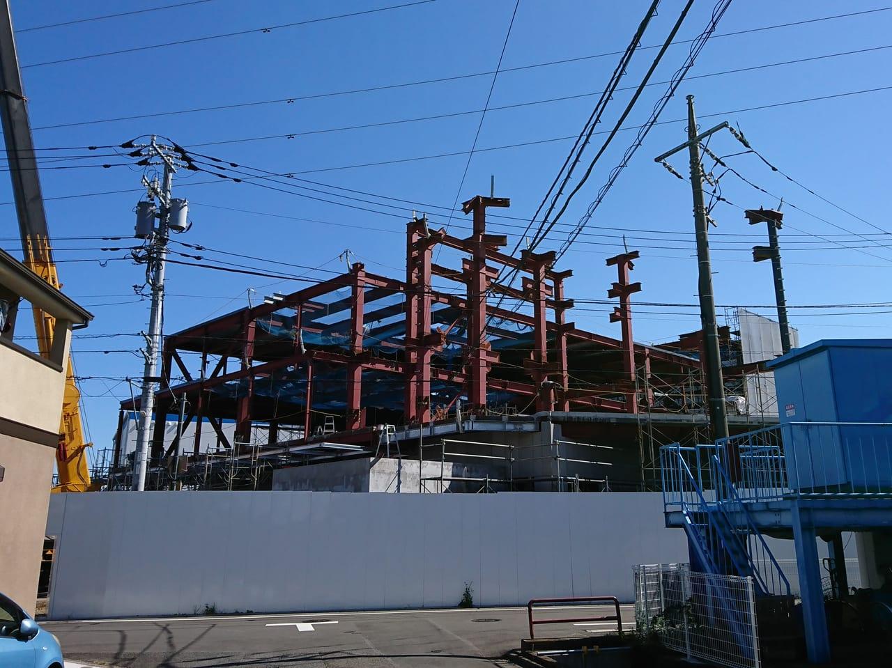 銀座ウエスト新工場建設中