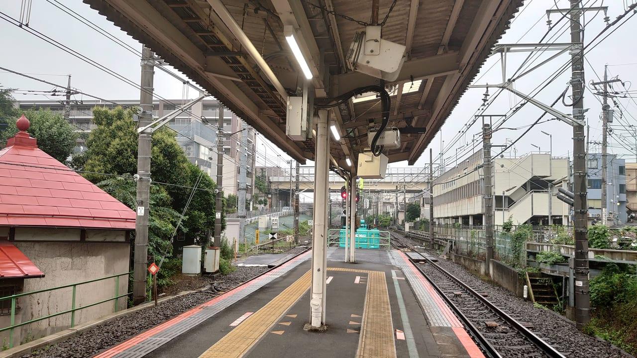 日野駅ホーム八王子寄り